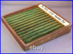 Parker Vintage Small Oak Pen Tray-7-X 7-green colored-holds 12 pens