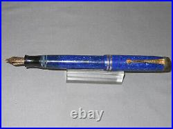 Parker Vintage Streamline Junior Lapis Blue Fountain Pen-working
