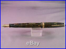 Parker Vintage Stripped Duofold Fountain Pen-working-extra-fine