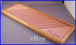 Parker Vintage Wooden 12 pen display tray