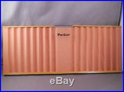 Parker Vintage Wooden Display Tray-NEW OLD STOCK IN SHIPPING CARTON-l6 pens