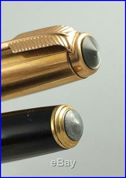 Rare Vintage Parker 51 Double Jewel Vacumatic Fountain Pen Blk 12k Gold F