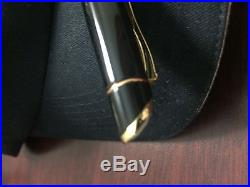ROLEX VINTAGE CROWN COLLECTION ROLLERBALL PEN 23KT GOLDp! BLACK LACQUER RARE