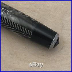 Rare Sword Clip Vintage Parker Royal Challenger Fountain Pen Silver Herringbone