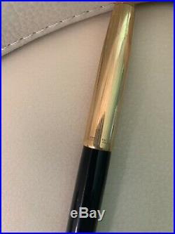 Rare Vintage PARKER 51 Navy Blue Blue Color/Gold Cap Fountain Pen