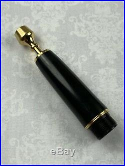 Rare! Vintage Parker Vp Holy Water Sprinkler Fountain Pen Black Lustraloy Steel