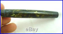 Stilografica Parker Duofold Vintage Green Celluloid Fountain Pen Gold Nib 14k