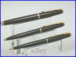 Superb Vintage Parker 75 Brown Thuya Laque Fountain Pen Trio Set, Box 1984 MINT