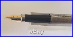 Used Vintage Parker 75 Silver Plated Fountain Pen 14k Nib Size F