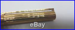 Used Vintage St. Dupont Fountain Pen Gold Plated Nib 18k Size B 59kra37