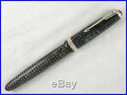Vintage 1942 Green Striped Parker Vacumatic Long Major Fountain Pen Restored