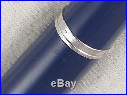 Vintage 1949 Broad Nib Blue Parker 51 Fountain Pen Gold Fill Cap Restored