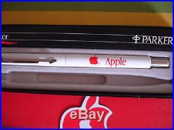 VINTAGE APPLE COMPUTER INC c. 1983 SUPE RARE RED LOGO PARKER MACINTOSH ROLLER PEN