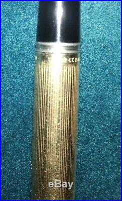 VINTAGE BOXED PARKER 51 FOUNTAIN PEN ALL ROLLED GOLD INSIGNIA 1960's