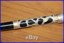 VINTAGE PARKER #16 Filigree Overlay Fountain pen WET NOODLE #3 NIB Minty