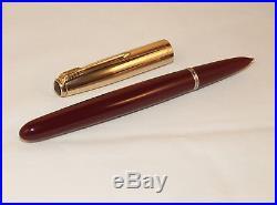 Vintage Parker 51 Custom Mk1 Series 3 Fountain Pen Fantastic Broad Italic Nib