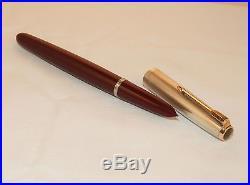 Vintage Parker 51 Rolled Silver Cap Mk1 Fountain Pen Aero-metric Fill 1956