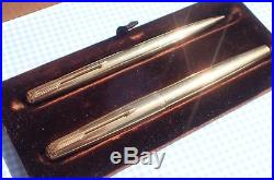 VINTAGE PARKER 61 PRESIDENTIAL (9 ct Gold) BOXED SET MINTY DATED 1961
