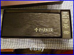 Vintage Parker 75 Cisele Sterling Silver Fountain Pen Flat Top & Bottom