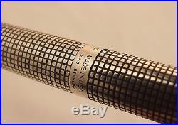 Vintage Parker 75 Sterling Silver Cisele Fountain Pen- 1979- Near Mint Condition