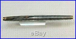VINTAGE PARKER 75 Sterling Silver Cisele Fountain Pen 14 K Gold F Nib in Box