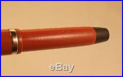 Vintage Parker Lucky Curve Duofold Jr Fountain Pen Button Stud Fill Red