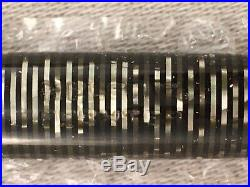 VINTAGE PARKER VACUMATIC FOUNTAIN PEN-Double Striped Jewel Gray And Black