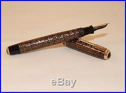 Vintage Parker Vacumatic Golden Web Slender Fountain Pen Lockdown Fill C1936