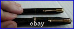 VINTAGE Parker Vacumatic RARE Brown Shadow Wave Fountain Star Pen and Pencil Set