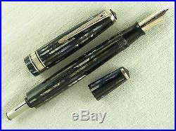 Vintage Striped Duofold Deluxe Senior Parker Vacumatic Fountain Pen Restored