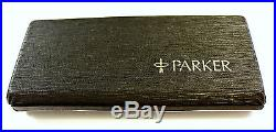 VTG PARKER 75 Sterling Silver 925 Cisele Fountain Pen 14K Gold Nib USA with BOX