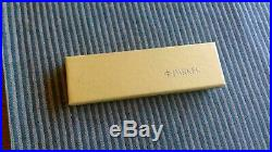VTG Parker Sterling Silver Fountain Pen and Ballpoint Pen Set 14k Nib