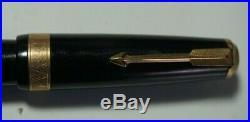VTG Premier Parker Vacumatic 37 Black Fountain Pen NOT Restored All Original