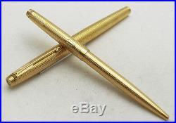 Very Rare Vintage Parker 75 Tiffany Grid Cicele Gold Filled Set
