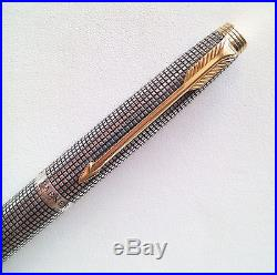 Very good Vintage Parker 75 Sterling Silver Fountain Pen U. S. A. F