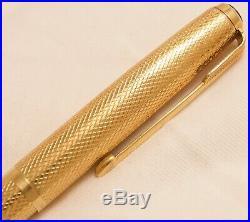 Vintage 18ct. 750 Solid Gold Parker Presidential 51 Clutch Pencil Uk Barley 1953