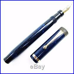 Vintage 1920's Parker Duofold Senior Lapis Lazuli II Blue on Blue Fountain Pen