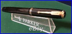 Vintage 1936 Parker Vacumatic DJ Fountain Pen Black Lock Down Filler Unit