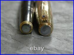 Vintage 1940's Parker 51 Pen 14k Yellow & Rose Gold Empire Cap #461-PP