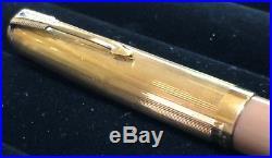 Vintage 1945 (1st Qrt) Parker 51 Buckskin Beige Double Jewel Fountain Pen