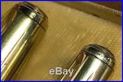 Vintage 1945 Parker 51 Mustard DoubleJewel Fountain Pen/Pencil Empire Caps