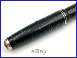 Vintage 1946 Parker Azure Blue Pearl Major Vacumatic Fountain Pen 14k Flex Nib