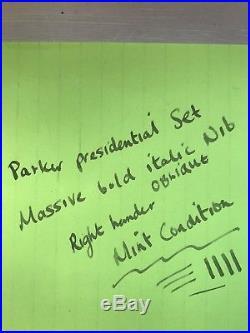 Vintage 1970's Parker 61 Presidential Pen Set 9ct. 375 Solid Gold Minty