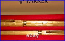 Vintage 1970's Parker 61 Stratus Boxed Set Fountain Pen & Ball Pen Nr Mint