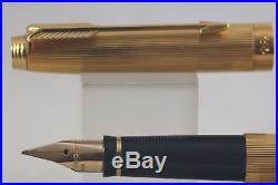 Vintage (1984) Parker 75 Godron Gold Plate Medium Fountain Pen, with 14k 585 Nib