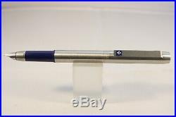 Vintage (1987) Parker 25 Triple Pen Set, Brushed Steel with Blue Trim