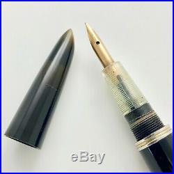 Vintage 1st Year 1941 Parker 51 Fountain Pen Double Jewel Black Sterling Silver