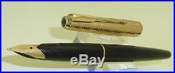 Vintage Black Parker 65, Rolled Gold Consort Cap