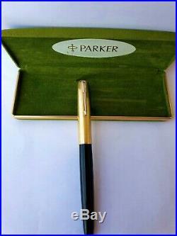 Vintage Cedar Blue 1946 Parker 51 Vacumatic Fountain Pen Gold Cap Restored