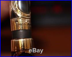 Vintage EDISON Gold Overlay Eyedropper Fountain pen HEATH Filigree Stunning Flex